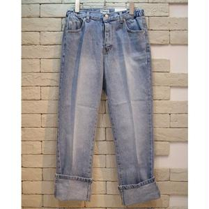 CENTER PRESS ROLL UP DENIM PANTS
