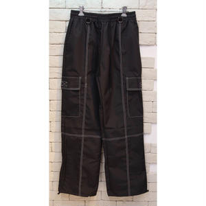 NYLON STITCH CARGO PANTS BLACK