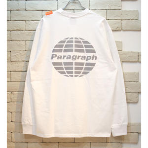PARAGRAPH CLASSIC REFRECTOR LOGO TEE WHITE