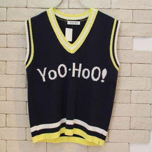 Yoo-Hoo KNIT VEST NAVY
