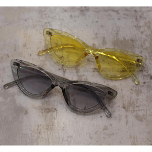 CAT EYE CLEAR SUNGLASSES