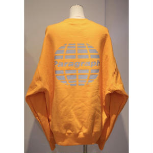 PARAGRAPH REFRACTOR LOGO SWEAT ORANGE