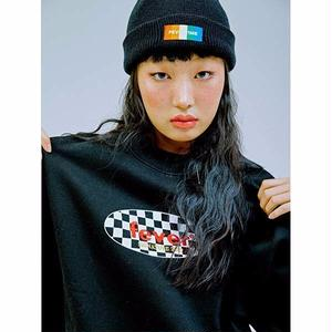FEVERTIME 19 CHECKER CREW SWEAT BLK