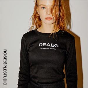 ROSE APPLE BASIC LOGO TEE BLACK