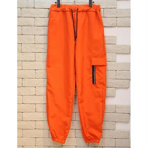 NYLON CARGO PANTS ORANGE