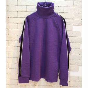 SLEEVE LINE TURTLENECK SWEAT -NN- PURPLE