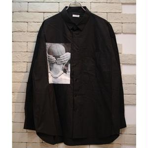 YOUTH PHOTO PRINT SHIRTS BLACK
