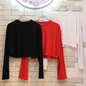 L/S CROPPED TEE