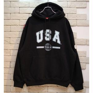 PARAGRAPH USA SWEAT HOODIE BLACK