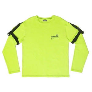 VERDAMT BELTED ARM TEE LIME