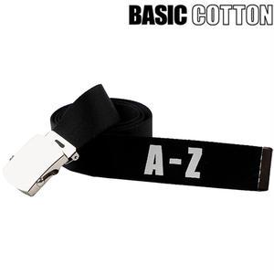 BASIC COTTON A-Z BELT BLACK