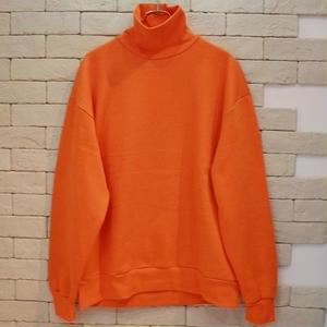 TURTLE NECK SWEAT-SR-ORANGE