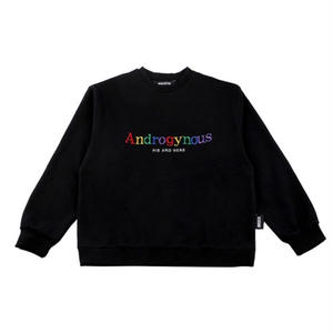 BASIC COTTON Androgynous SWEAT BLACK
