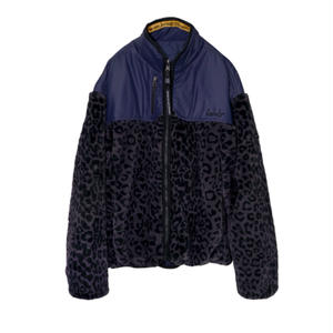 M-P-Q  SIGNATURE REVERSIBLE FUR JUMPER LEOPARD