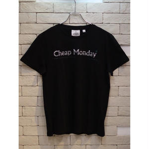 CHEAP MONDAY STANDARD TEE FADE LOGO BLACK