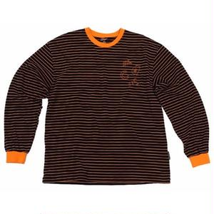 A PIECE OF CAKE ACS3.0 STRIPE LONGSLLEVED TEE BROWN