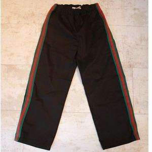 SIDE LINE WIDE CHINO PANTS BLACK