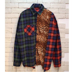 LEOPARD PATCH WORK SHIRTS