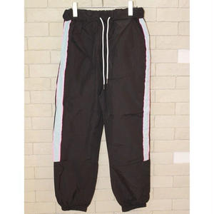 PIPING NYLON TRACK PANTS BLACK