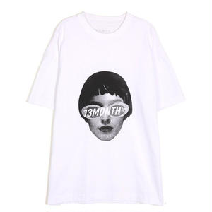 13MONTH FACE PRINTING T-SHIRT WHITE