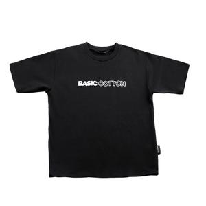 BASIC COTTON LOGO TEE BLACK