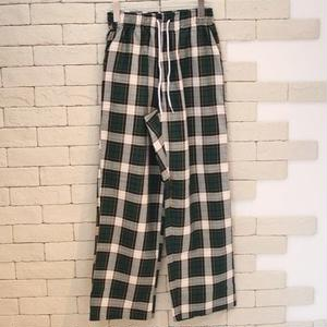 CHECK EASY PANTS -OR- GREEN