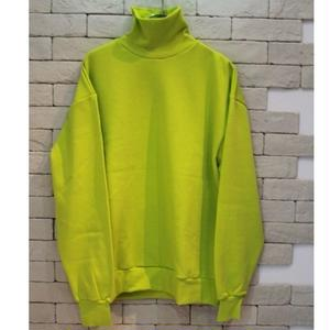 TURTLE NECK SWEAT-SR- LIME