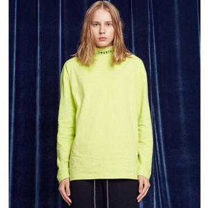 13MONTH TURTLENECK  LONG SLEEVED TEE(LIME)