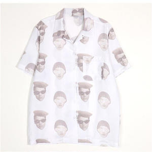 13MONTH FACE PRINTING ALOHA SHIRT WHITE