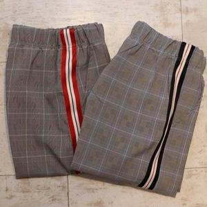 SIDE LINE GLEN CHECK E-Z PANTS  BLACK/RED