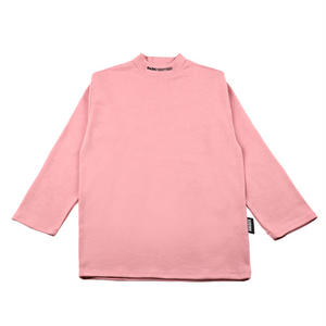 BASIC COTTON BASIC MOCK NECK PINK