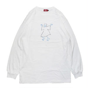 HELLRAZOR【 ヘルレイザー】x Shawn Powers Ghost Long Sleeve Shirt White ロンT ホワイト