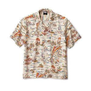 FTC【 エフティーシー】Marlin Rayon Shirt WHITE アロハシャツ レーヨンシャツ ホワイト