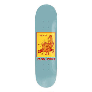 "PASS~PORT【 パスポート】""LADY IN RED"" POZTER SERIES DECK デッキ 板 8インチ"