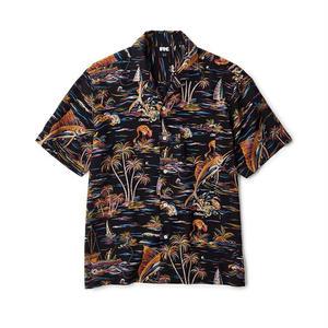 FTC【 エフティーシー】Marlin Rayon Shirt  BLACK アロハシャツ レーヨンシャツ ブラック