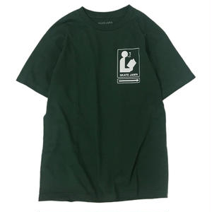 SKATE JAWN【 スケートジョン】LibraryTEE GREEN Tシャツ グリーン