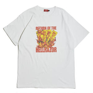 HELLRAZOR【 ヘルレイザー】 RETURN OF THE HELLRAZOR SHIRT - WHITE  Tシャツ ホワイト