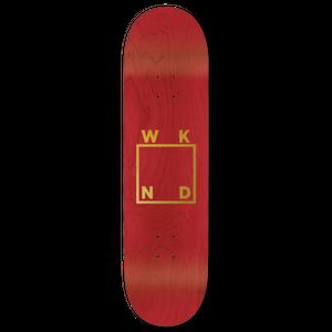 WKND【 ウィークエンド】Red Veneer/Gold Logo Deck デッキ 板 7.75インチ