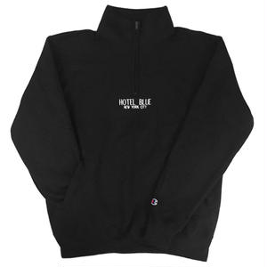 HOTELBLUE【 ホテルブルー】CHAMPION QUARTER ZIP STEEL BLACK ブラック