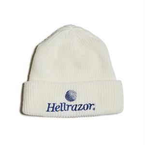 HELLRAZOR【 ヘルレイザー】TRADEMARK LOGO WATCH CAP WHITE ニット帽 ホワイト