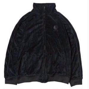 HELLRAZOR【 ヘルレイザー】Logo Velour Jacket black ベロア ジャケット ブラック