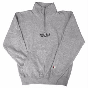 HOTELBLUE【 ホテルブルー】CHAMPION QUARTER ZIP STEEL GRAY  グレー