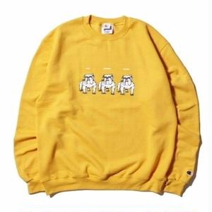 HELLRAZOR【 ヘルレイザー】Never Change Til We Die Crewneck Sweater gold トレーナー クルーネック  ゴールド