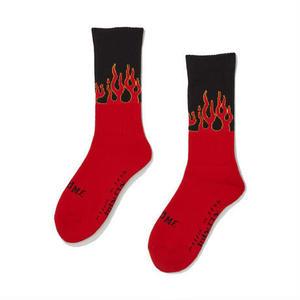坩堝【 るつぼ】×I&ME FLAME SOX  RED BLCK フレーム ソックス