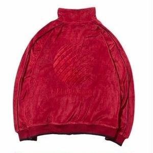 HELLRAZOR【 ヘルレイザー】Logo Velour Jacket Bugundy ベロア ジャケット バーガンディ