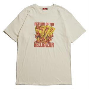 HELLRAZOR【 ヘルレイザー】 RETURN OF THE HELLRAZOR SHIRT - CRAME  Tシャツ クリーム