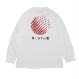 HELLRAZOR【 ヘルレイザー】 OPENING LOGO LONG SLEEVE SHIRTS ロンT ホワイト