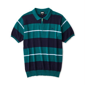 FTC【 エフティーシー】STRIPED KNIT POLO GREEN ニット ポロシャツ グリーン