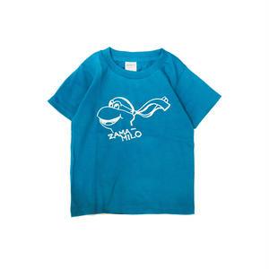 LUCKYWOOD【 ラッキーウッド】ZAMA-MILO KIDS TEE キッズ Tシャツ ターコイズ
