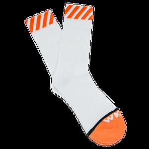 WKND【 ウィークエンド】Caution Sock White ソックス 靴下 ホワイト
